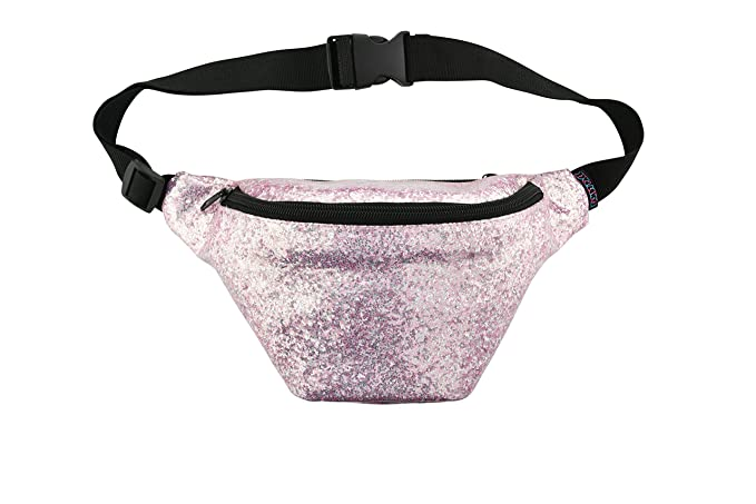 4879f4c78532 KANDYPACK Glitter Fanny Pack with Hidden Pocket Perfect for Raves and  Festivals