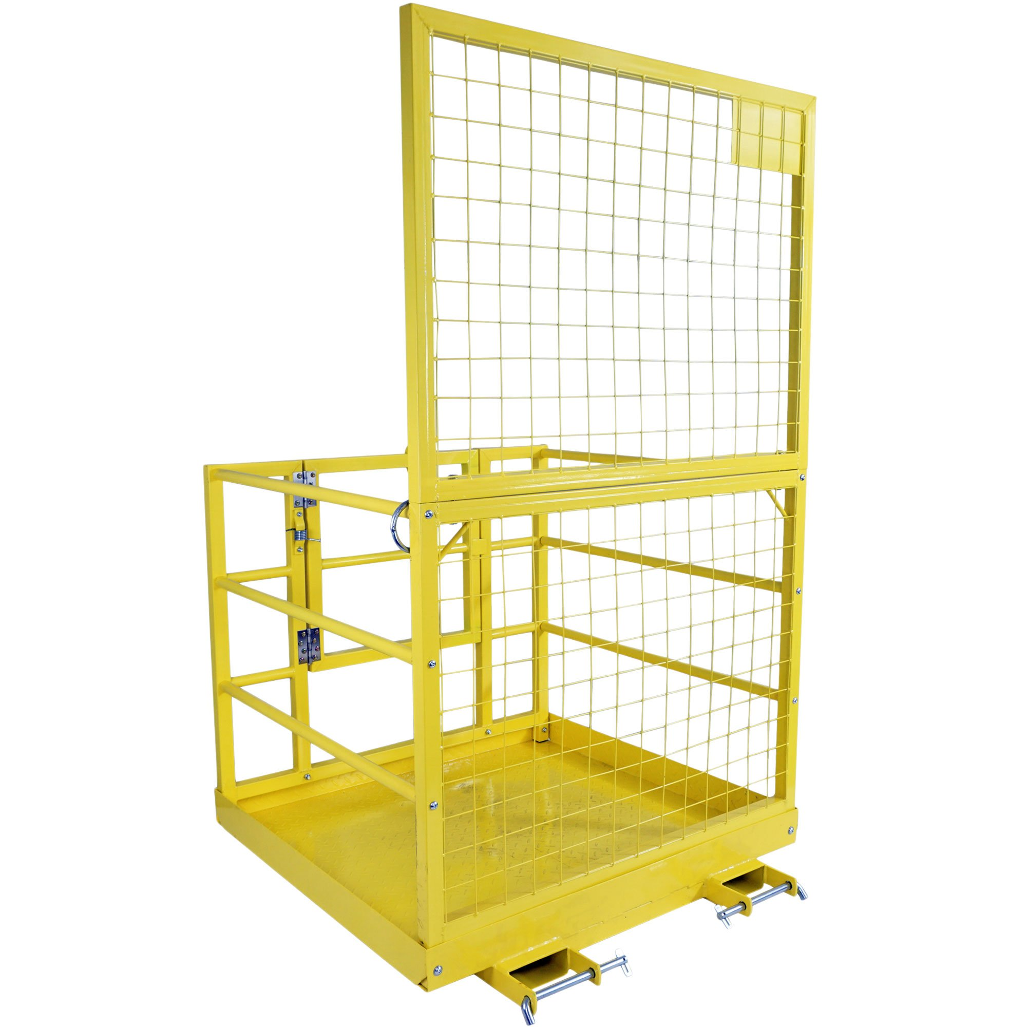 Forklift Safety Cage Work Platform Lift Basket Aerial Fence Rails Yellow 2 man by Titan Attachments (Image #5)