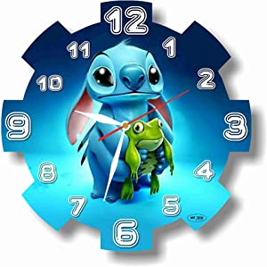 Art time production Lilo & Stitch 11'' Handmade Wall Clock - Get Unique décor for Home or Office – Best Gift Ideas for Kids, Friends, Parents and Your Soul Mates