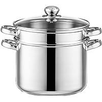 Style'n Cook Pot de nouilles Ø 24 cm en acier inoxydable avec insert de légumes