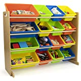 Humble Crew Kids Toy Storage Organizer, Natural/Neon Multi