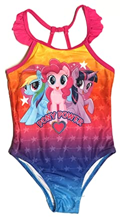 056bc02df Amazon.com  Toddler Girls My Little Pony 1 Piece Swimsuit  Clothing