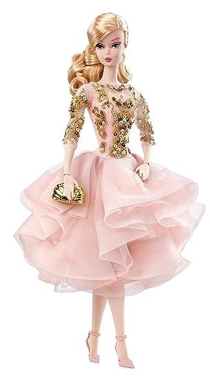 バービー・ファッションモデルコレクション・ブラッシュゴールドのカクテルドレス