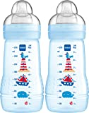 MAM Easy Active Baby Bottle 270 ml, Babyflasche, Doppelpack