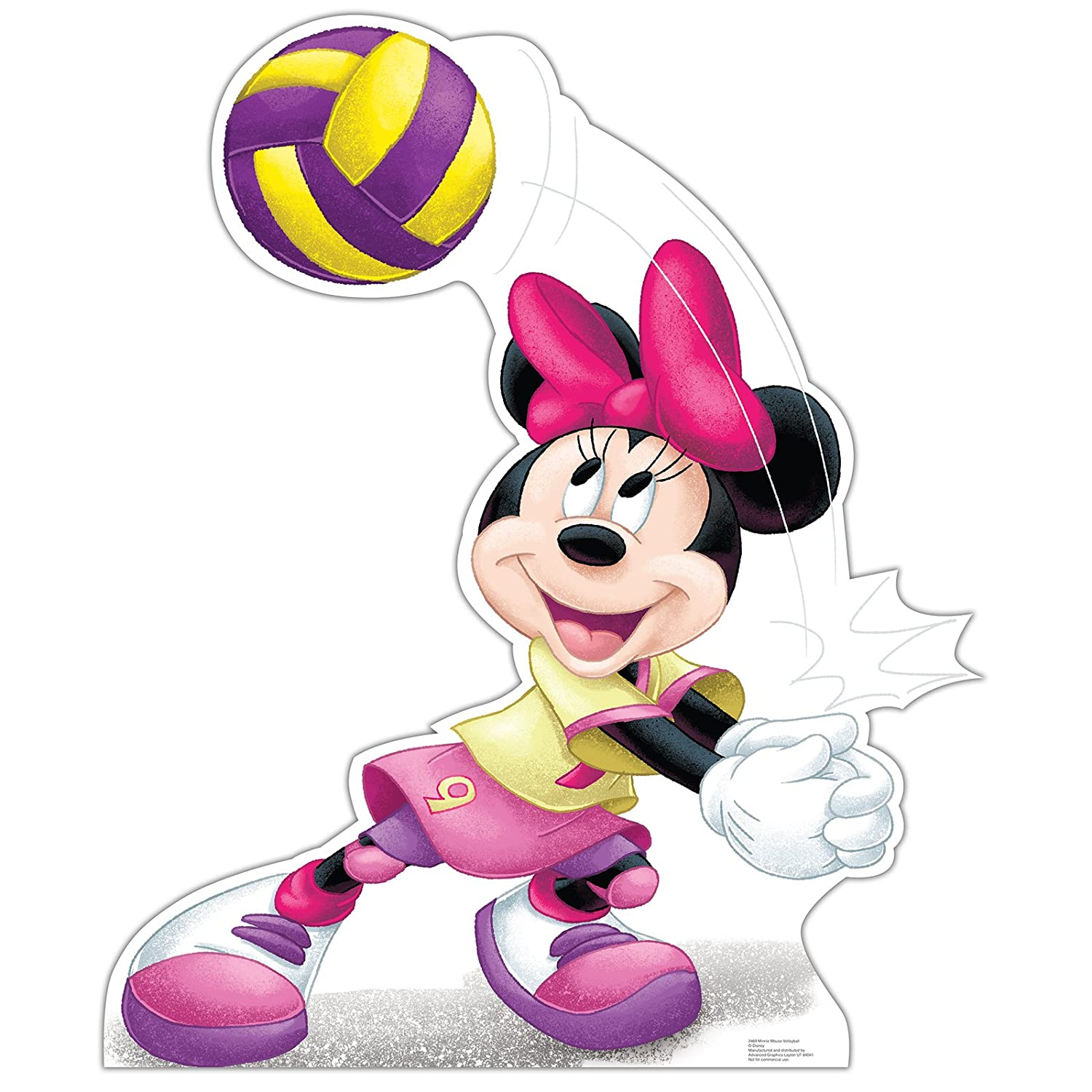 Advanced Graphics Minnie Mouse Party Decoration Minnie Volleyball Carboard Standup