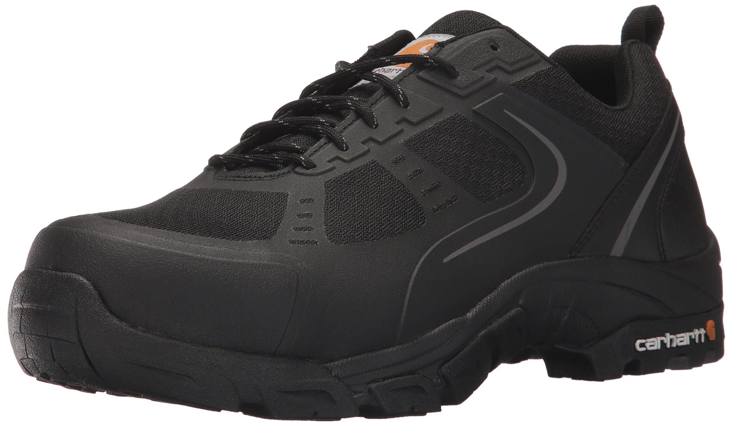 Carhartt Men's Oxford Black Lightweight Hiker Steeltoe CMO3251 Industrial Boot, Black Mesh and Synthetic, 12 M US