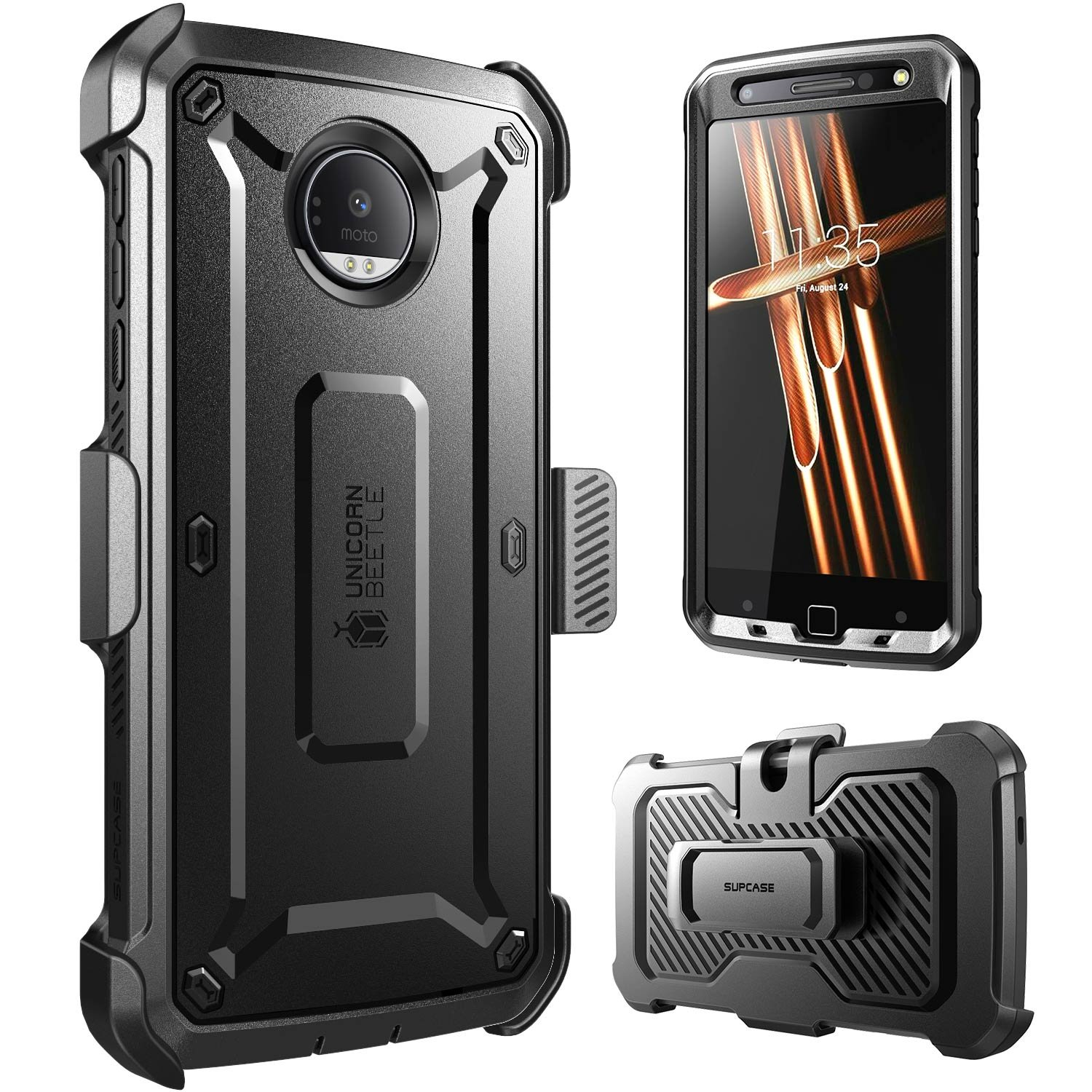 hot sales 944d5 7feb3 Supcase Full-body Rugged Holster Case for Moto Z Droid,with Built-in Screen  Protector (2016 Release, Not Fit Motorola Moto Z Force Droid, Moto Z ...