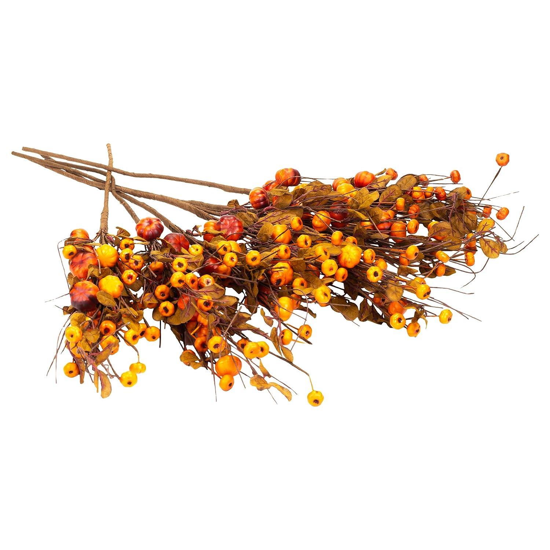 Honey In Me パンプキンズ ブッシュ 秋 メドリー 27×5 人工収穫植物 6個セット B07G7HNPZ1