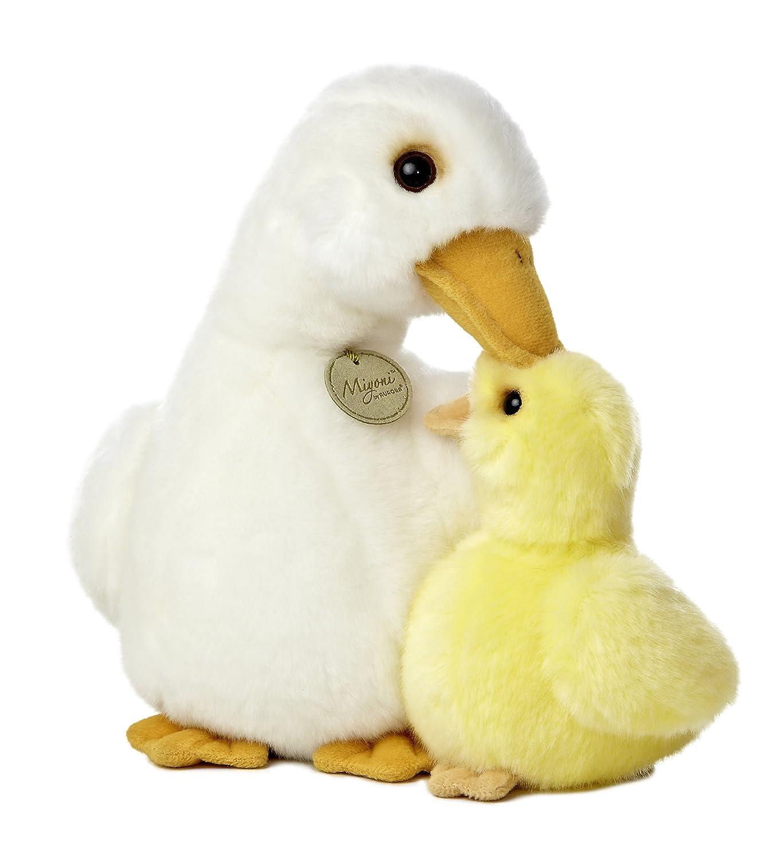 amazon com aurora world miyoni mother duck and duckling plush 12