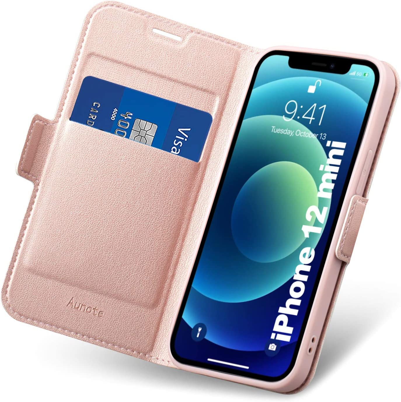 Wallet Case Book Case Stand Feature Magnetic Closure Phone Case PU Leather DN-Technology iPhone 12 Case iPhone 12 Pro Case iPhone 12 Pro Case Card Slot Holder Case Flip Folio