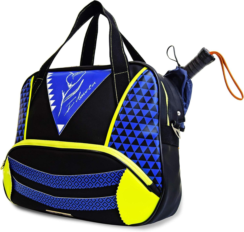 Paletero de Padel Mujer IDAWEN. Bolsa de Padel tamaño Grande Color Azul Klein