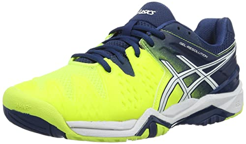 Giallo Safety Yellow/White/Poseidon Asics Gel Resolution 6 Scarpe