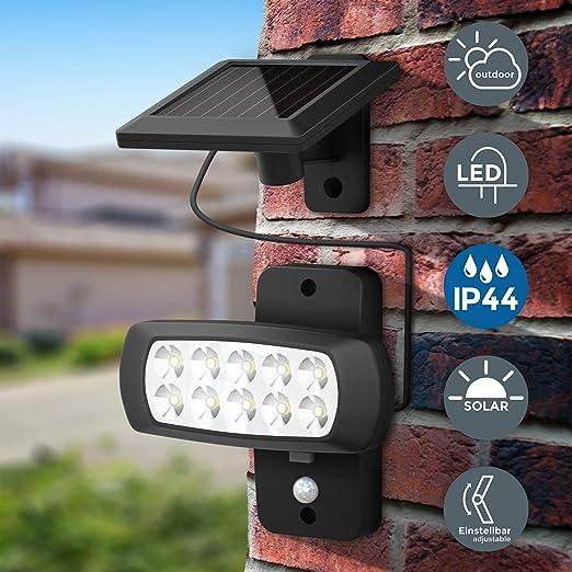 Rilevatore di movimento terrazze cortile casa Porta Vialetto Lampada muro esterno ad energia solare lampade