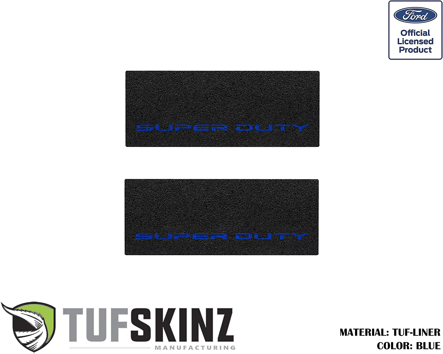 Fits 2017-Up Ford Super Duty TUF-Liner, Black w//Red Outline Logo Rear Door Sill Protection 2 Piece Kit TufSkinz