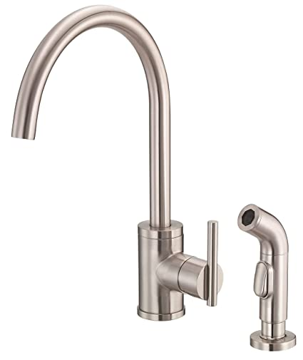 Danze D401058ss Parma Single Handle Kitchen Faucet With Side Spray