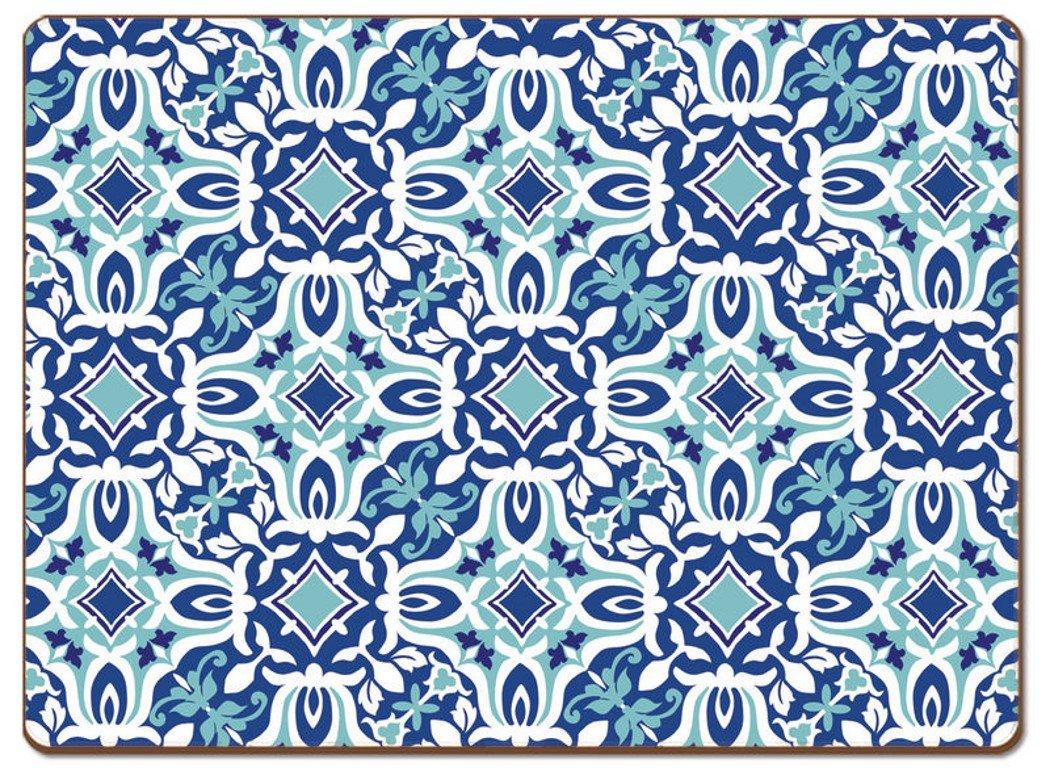 Cala Home 4 Premium Hardboard Placemats Table Mats, Andros 84946