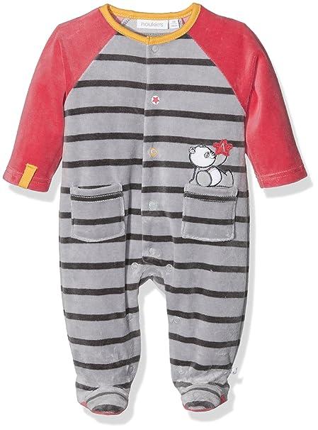 Noukies Z6831, Ropa de Bautizo para Bebés, Multicolor (Red/Grey),
