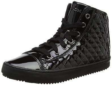 Geox Mädchen J Kalispera Girl D Hohe Sneaker, Schwarz (Black), 25 EU