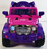 JEEP-JJ235-PINK DUBLE SPEED Ride On Car Toy With Remote Control ,Two Power wheels Drive Music MP3 Connector and Open Doors