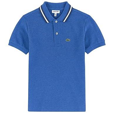 Lacoste - Polo - para niño Azul Azul Real 10 Años: Amazon.es: Ropa ...