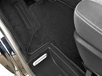 Maßgefertigte Fußmatten für VW Transporter T4 KPL Velours Anthrazit Komplett Set