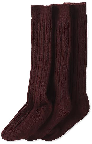 59a9562f0d8 Jefferies Socks Little Girls  School Uniform Cable Knee High (Pack of 3)