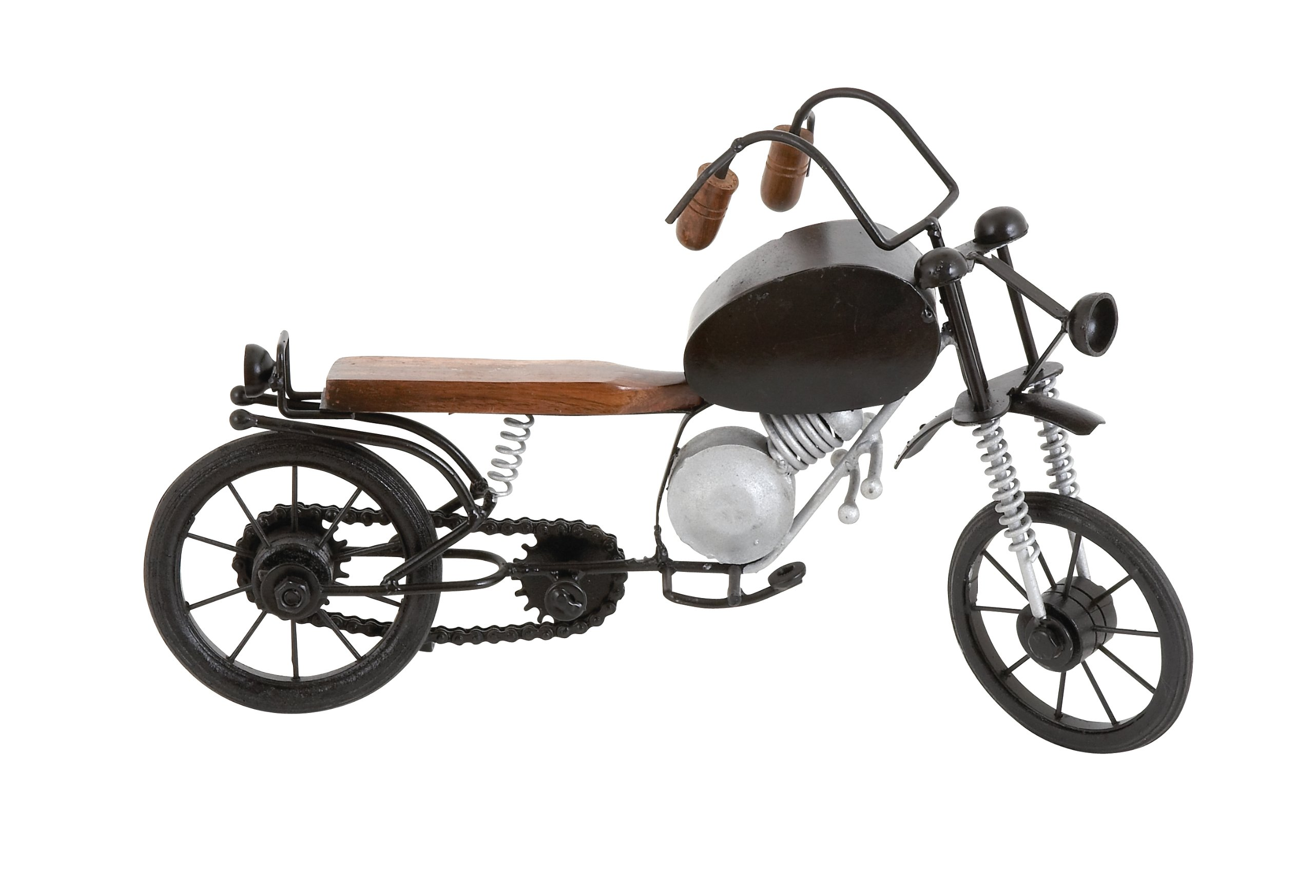 Deco 79 Metal Wood Motorcycle, 15 by 9-Inch