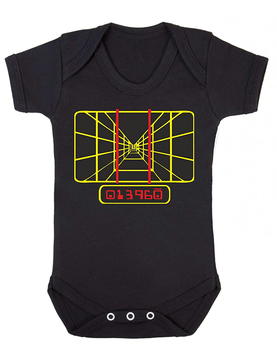 Bullshirt's Tie Fighter Babygrow (0-3MTHS, BLACK)