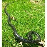 "Epaler Rubber Lifelike Snakes Scary Gag Gift Incredible Creatures Chain Snakes 47"" Rain Forest Snake Toys Wild Life Snakes"