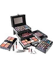 SHANY All in One Makeup Kit (Eyeshadow, Blushes, Powder, Lipstick and More) Holiday Exclusive, Black