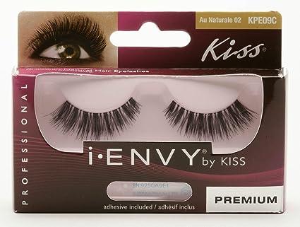 Premium pelo natural falsas pestañas por Kiss Me Envy + adhesivo ...