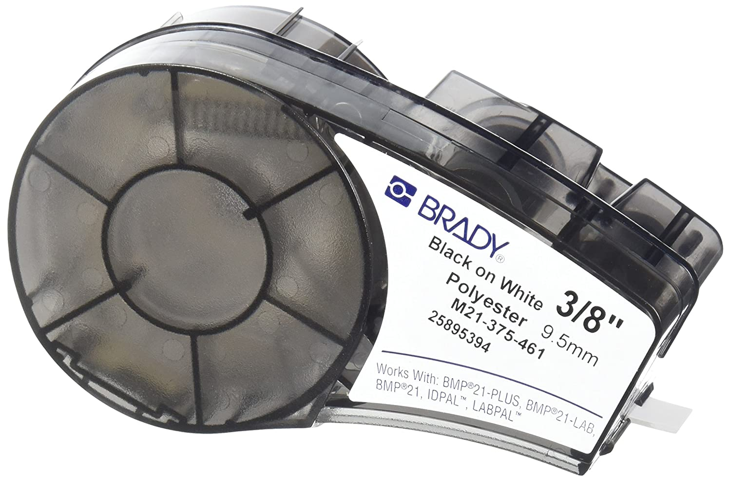 9.5 mm Brady M21-375-461-AW Tape for Lab Pal Polyester White