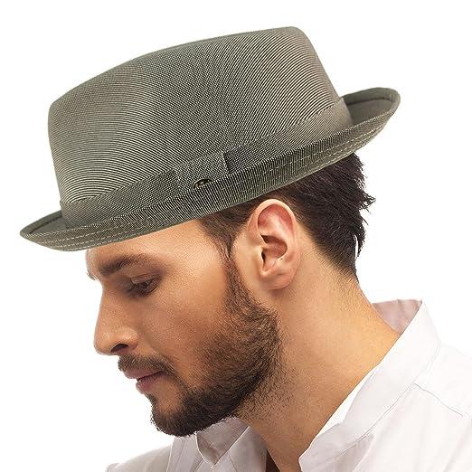SK Hat shop Men s Fancy Suit Rayon Fabric Derby Fedora stingy Curled Brim  Hat ... 2aebd1a93b4