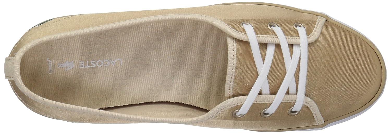 Lacoste Women's Ziane Chunky Sneakers B071GQ4BLP 8.5 B(M) US|Gold/White Textile