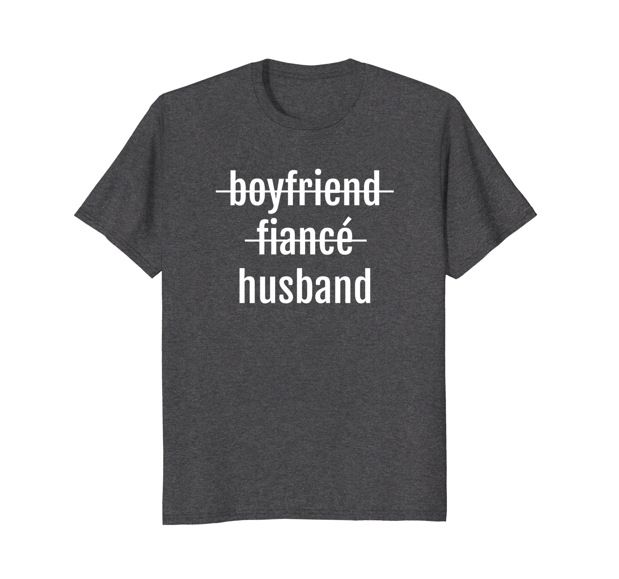 Mens Just Married Shirt Wedding Celebrate Husband Love Gift Groom 3XL Dark Heather