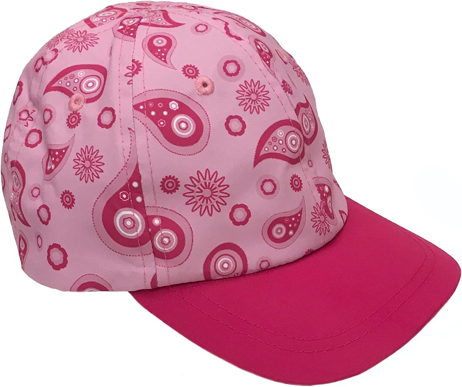 Bienzoe Girls Cotton Heart Printed Baseball Adjustable Cap Sun Visors Flat Hat