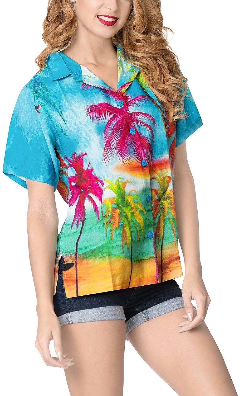 LA LEELA Damen-Bademode-Taste nach Oben Schwimmen Aloha Hemd