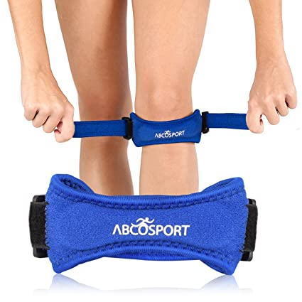 225ff360da Amazon.com : Abco Tech Patella Knee Strap for Knee Pain Relief - Knee Brace  for Running, Hiking, Soccer, Basketball, Volleyball & Squats (1 Piece) :  Sports ...