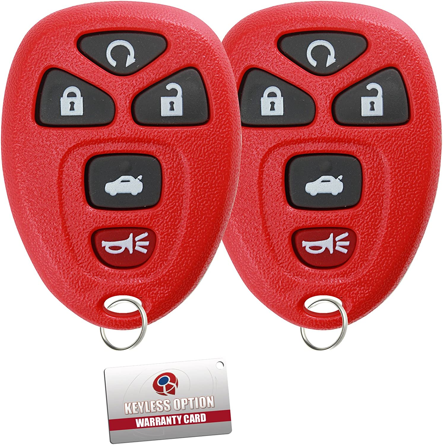 Pack of 2 KeylessOption Keyless Entry Remote Control Car Key Fob Replacement for 15912860