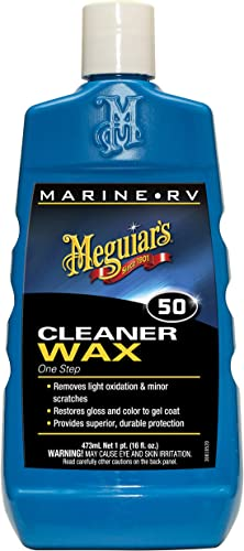 Meguiar's M5016 Marine/RV One Step Cleaner Wax