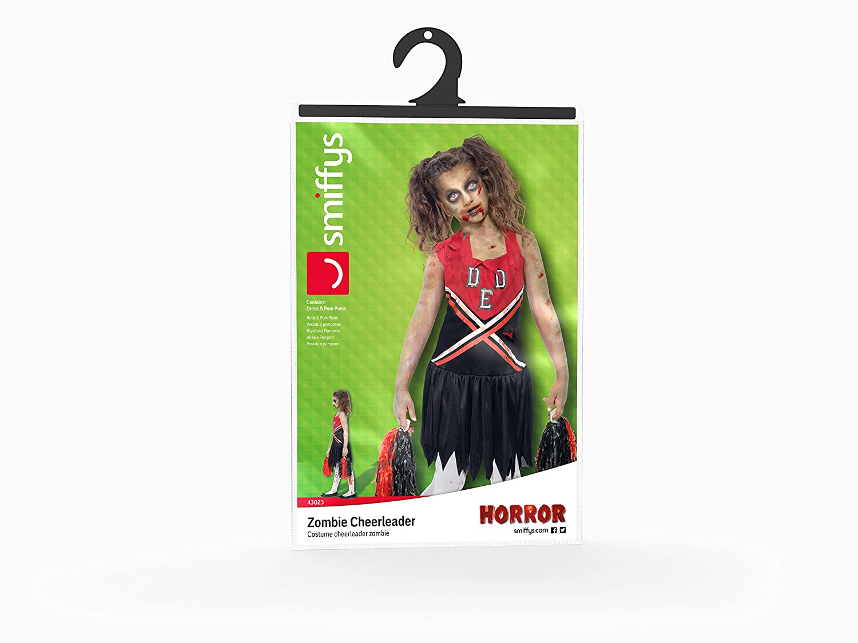 Amazon.com: Smiffy\'s Children\'s Zombie Cheerleader Costume, Blood ...