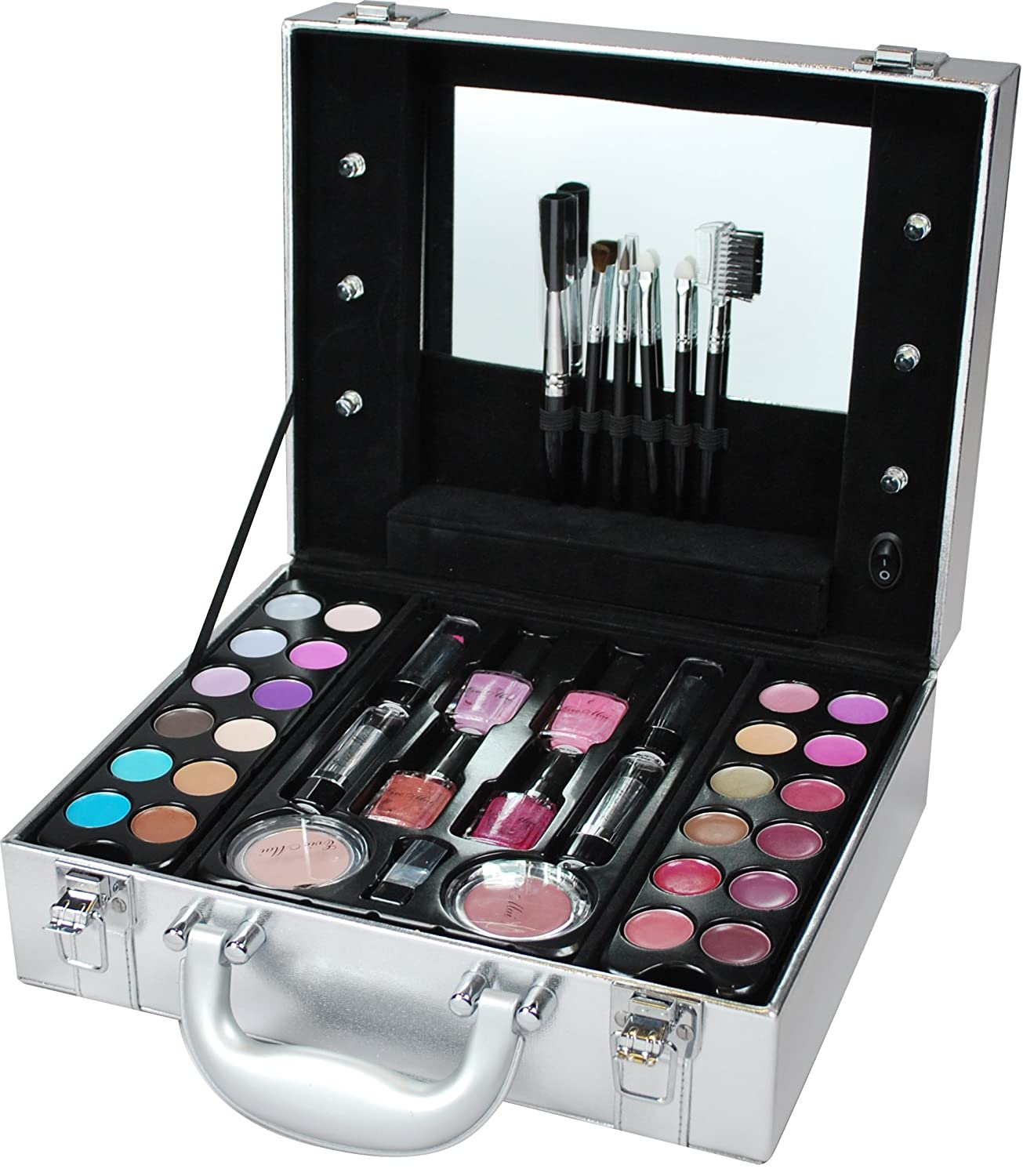 light up vanity set. Evie Mai Light Up Vanity Case With Cosmetics Makeup Set Amazon Co Inspiring Photos  Best idea home design