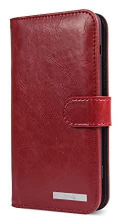 new product 6f66a 5fa2a Doro 8035 Magnetic Wallet Case with Card Holder (Red)
