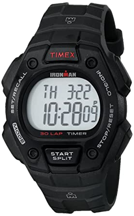 310803d2eaed Amazon.com  Timex Men s T5K822 Ironman Classic 30 Black Resin Strap ...