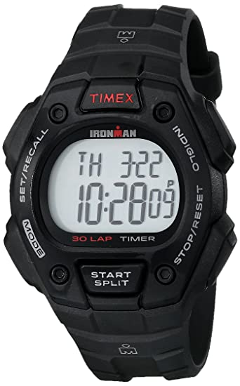 c7b8cab908e9 Timex Men s T5K822 Ironman Classic 30 Black Resin Strap Watch  Timex ...