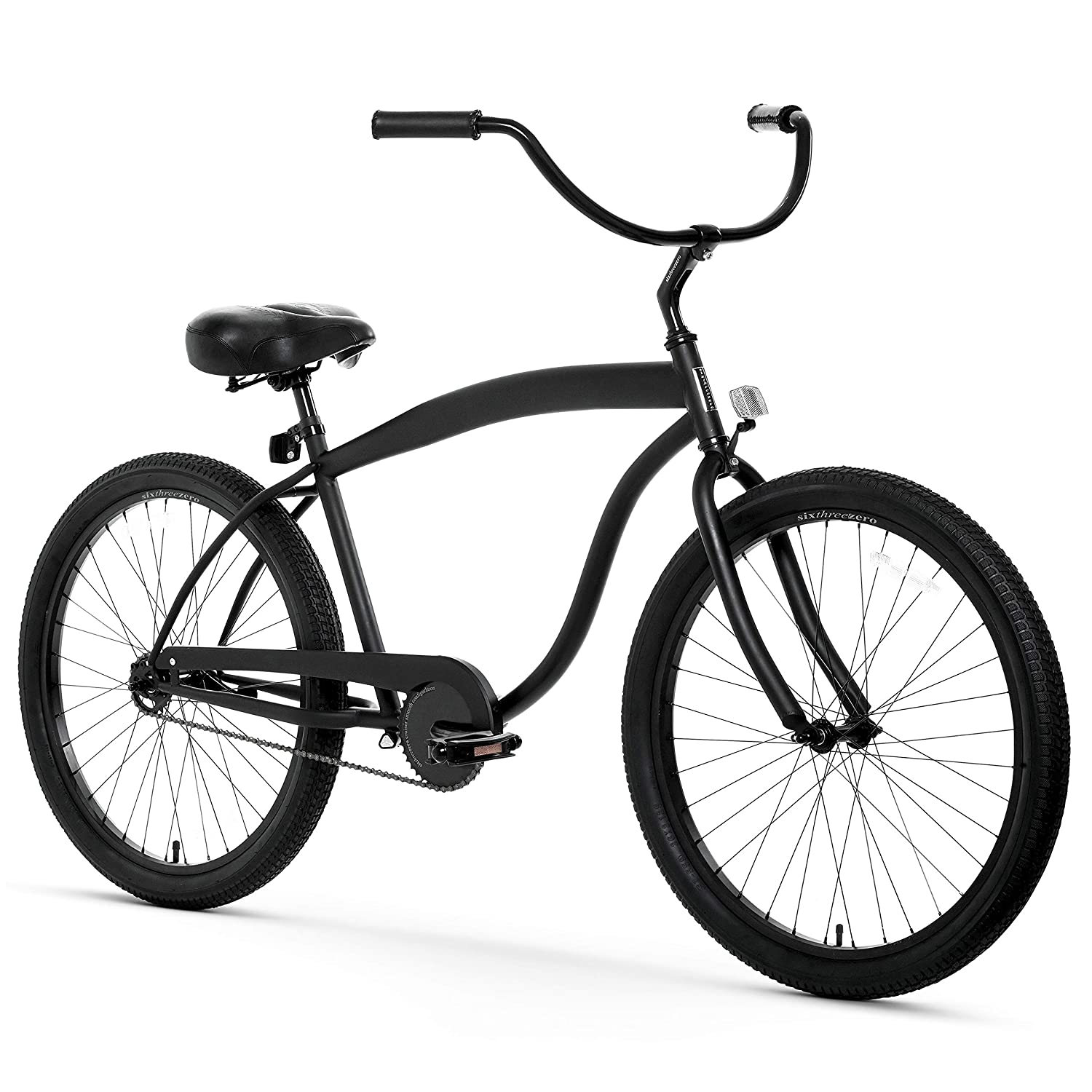 black mens single speed cruiser bike
