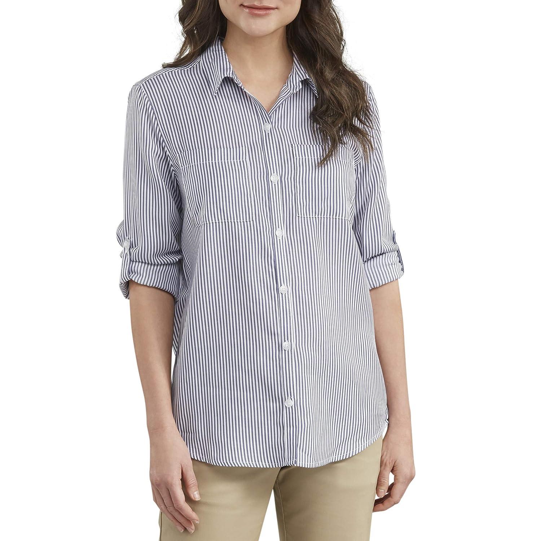 Dickies Womens Long Sleeve Lyocell Button Up Shirt