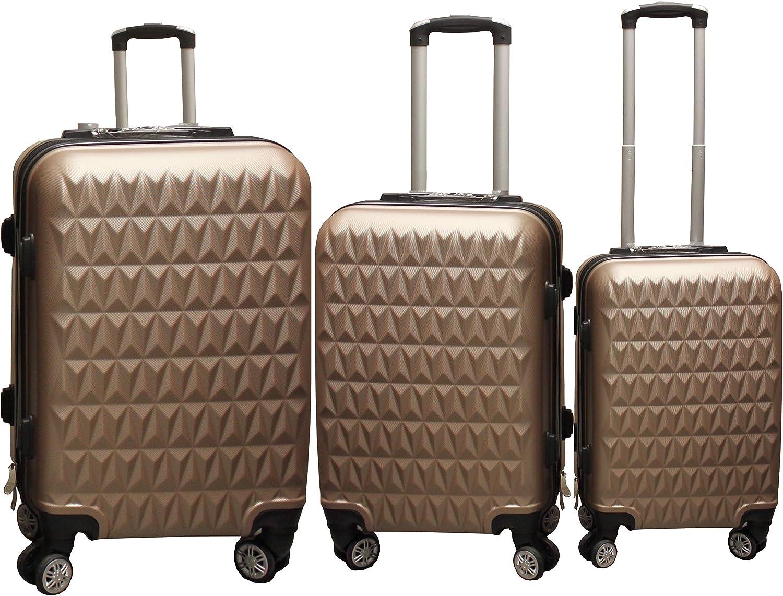 TRIS Trolley Aerolife ABS - equipaje de mano 55-65-75 cm - Maleta rígida, carcasa dura y antiarañazos con 4 ruedas. Ideal a bordo y en stiva de Ryanair, Alitalia, Air Italy, easyJet, Lufthansa.