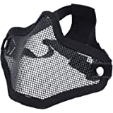 DCCN Airsoft Tactical Metal Mesh Mask Half Face Paintball Mask Military Tactical Face Mask Protect Nose and Mouth,with Adjustable Belt Strap