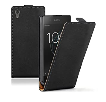 huge selection of dda7e 33afd Membrane Sony Xperia XA1 Case Black PU Leather Flip Cover Ultra Slim Phone  Protection